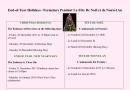 End-of-Year Holidays / Fermeture Pendant La Fête De Noël et de Nouvel An