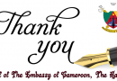 Thank You: Embassy Staff Tells Public for The Their Support Following Fire Disaster